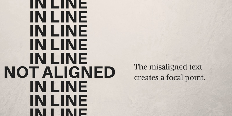 Breaking Alignment Graphic Design Principles