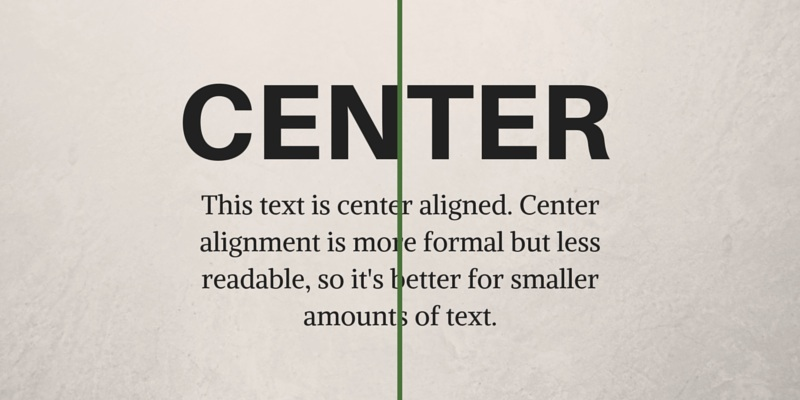 Center Alignment Graphic Design Principles