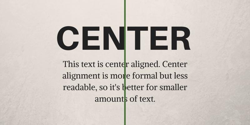 Center Alignment Graphic Design Principles