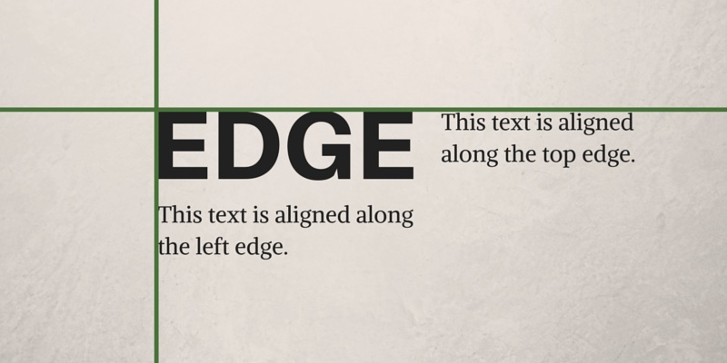 Edge Alignment Graphic Design Principles