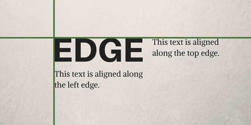 Edge Alignment Graphic Design Principles