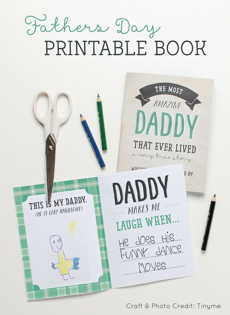 Fathers Day Printable Book Tinyme