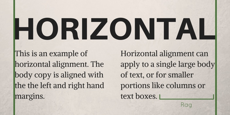 Horizontal Alignment Graphic Design Principles