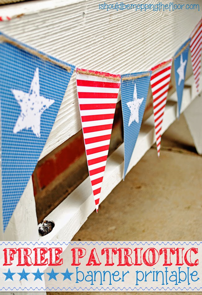 Printable Patriotic Banner 4th of July