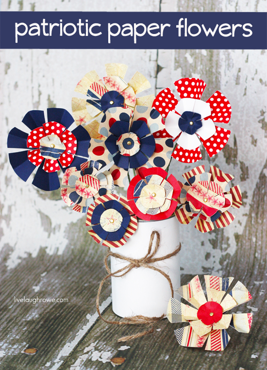 Patriotic Paper Flowers 4th of July