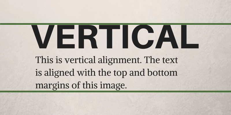 Vertical Alignment Graphic Design Principles