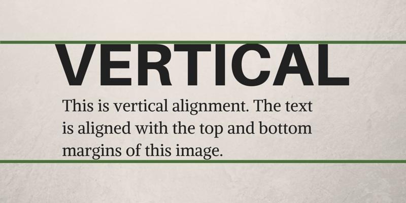 Vertical Alignment Graphic Design Principles