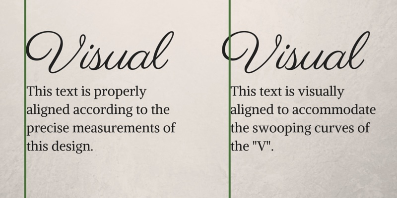 Visual Optical Alignment Graphic Design Principles