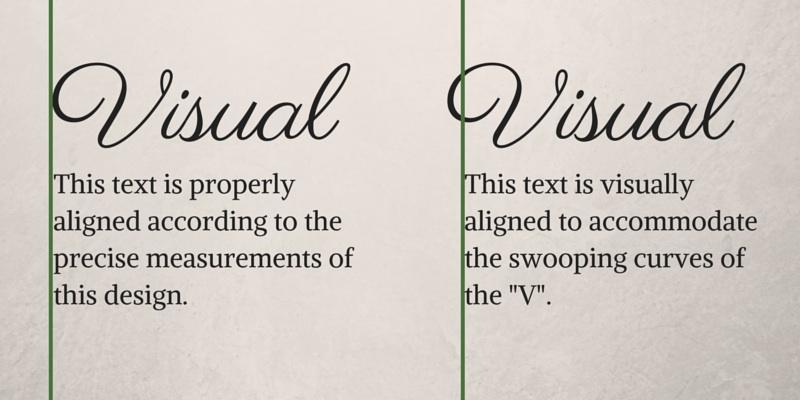 Visual Optical Alignment Graphic Design Principles