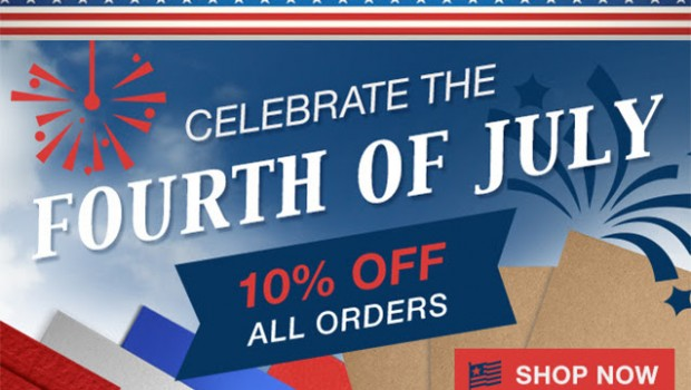 Fourth of July 10% Off Sale