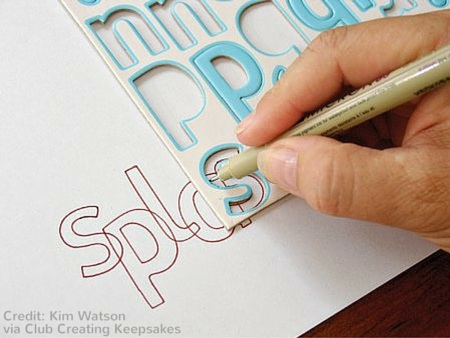 Letter Stenciling