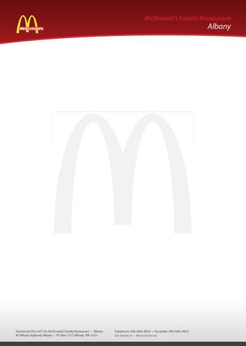 McDonald's Letterhead