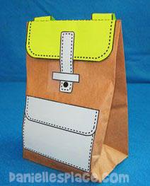 Paper Bag Backpack Back To School