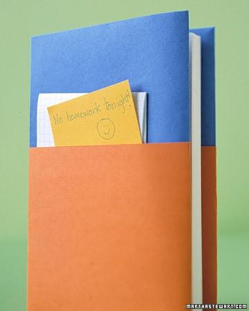 Pocket Fold Textbook Cover Martha Stewart