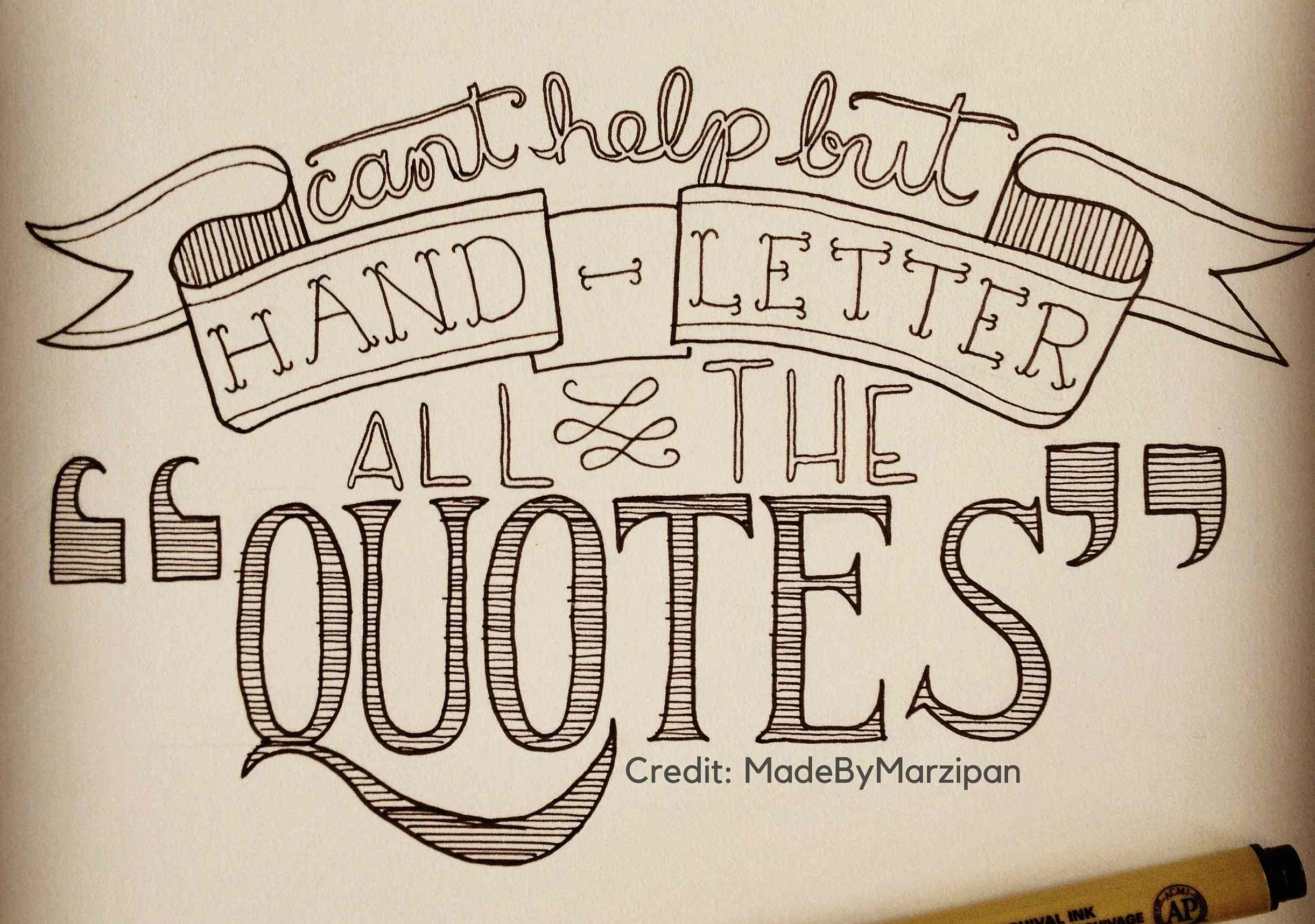 Hand Lettering MadeByMarzipan
