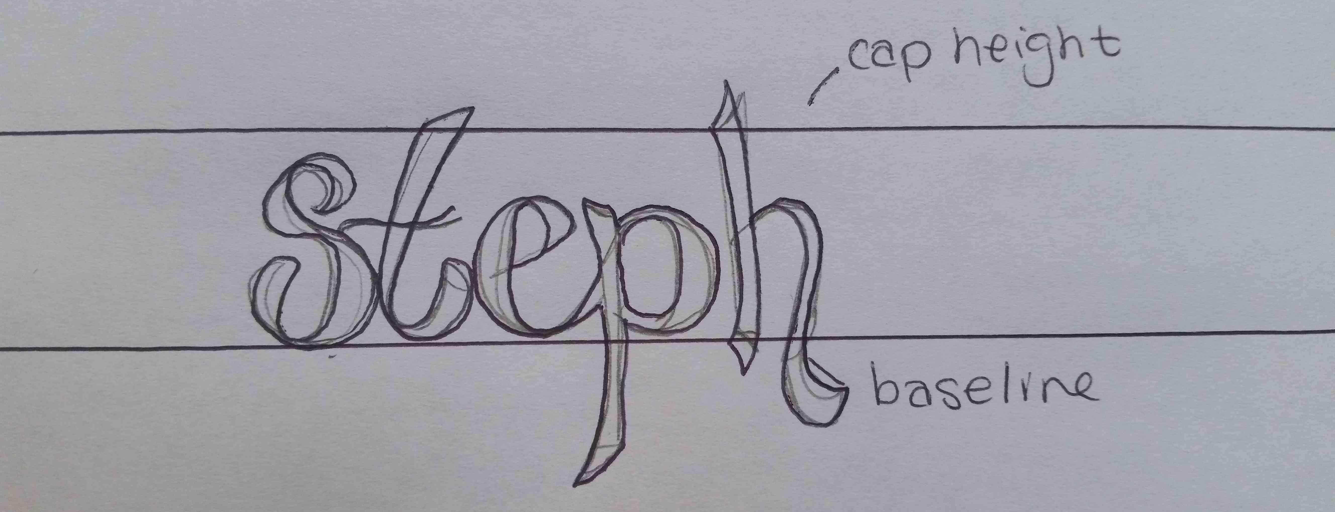 Hand Lettering Outline Marker