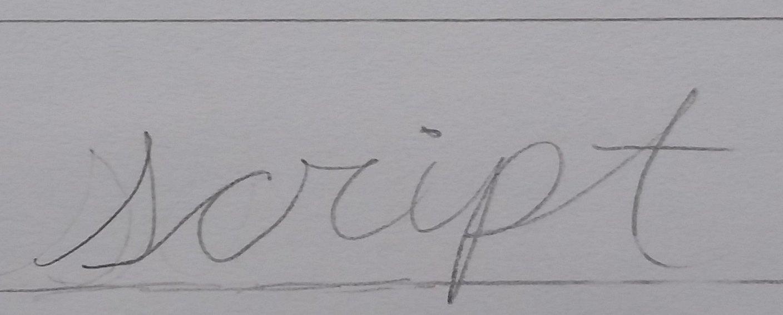 Hand Lettering Script Style