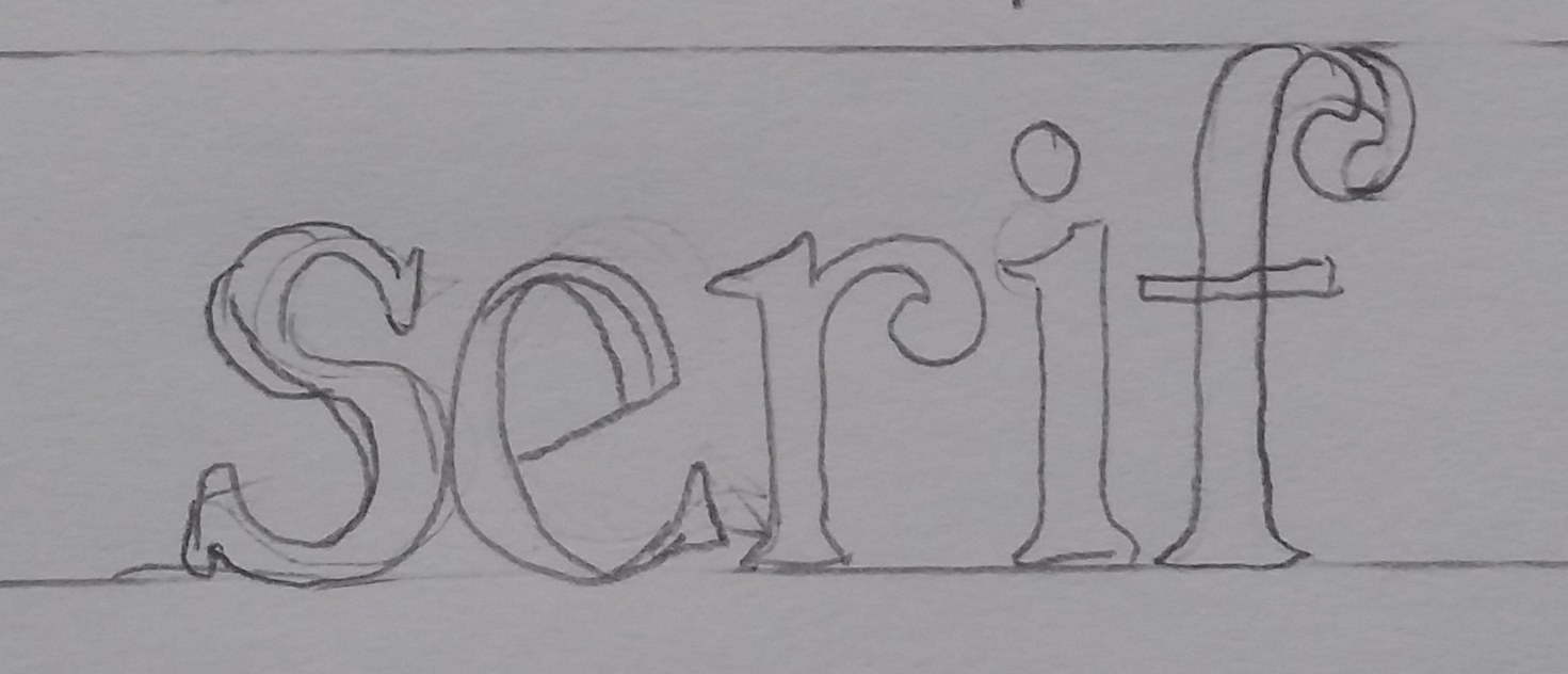 Hand Lettering Serif Style