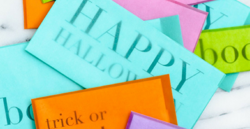 showcase halloween snail mail printable translucent envelopes