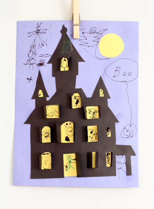 Halloween Haunted House Cut Out Kids Paper
