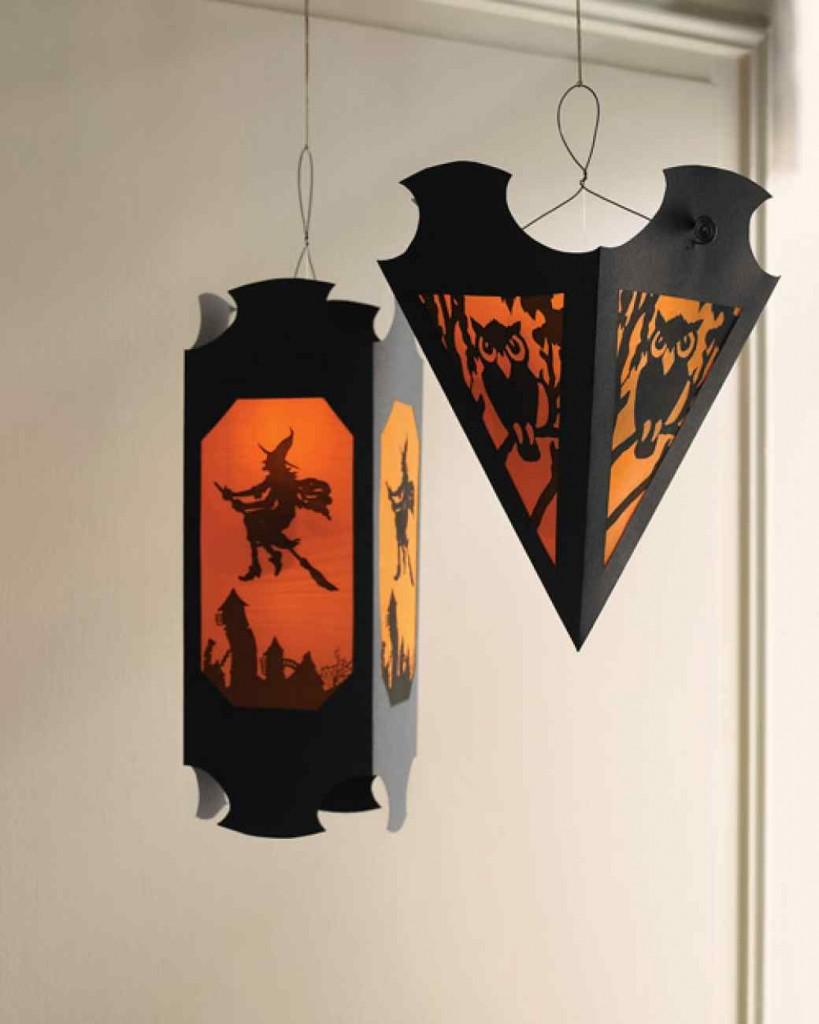 Hanging Paper Lanterns Halloween Martha Stewart