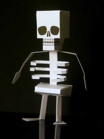 Halloween Paper Skeleton