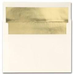 Fine Impressions Stationery Ecru Envelopes with Gold Liner
