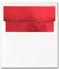 Fine Impressions Stationery Hi White Envelopes with Red Liner