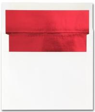 Fine Impressions Stationery Hi White Envelopes with Red Liner