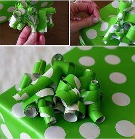 Curly Paper Scrap Bow