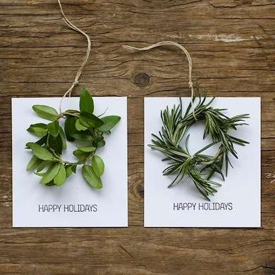 Herb Wreath Holiday Cards