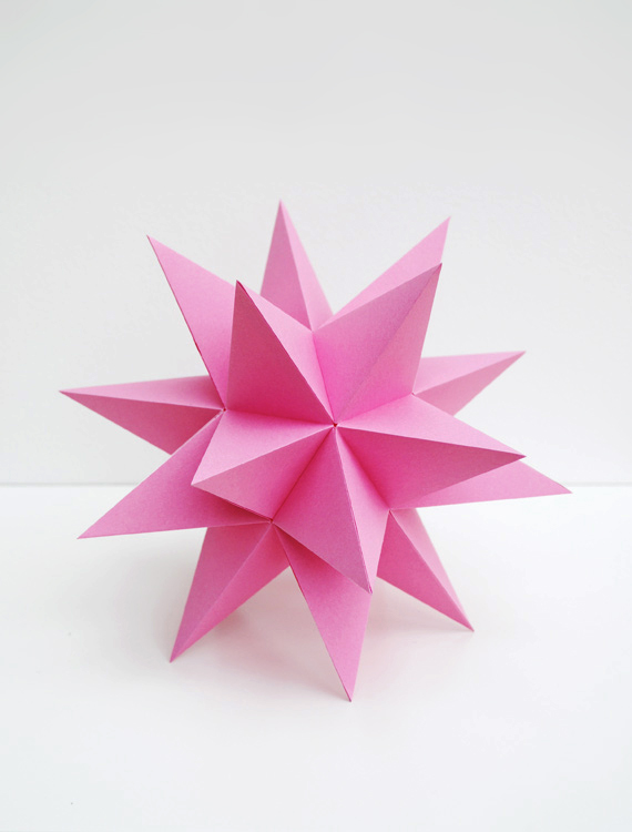 3D Dodecahedron Paper Star NYE New Years Eve