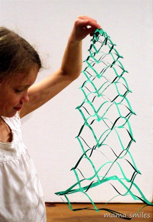 3D Paper Christmas Tree Cutout Decoration