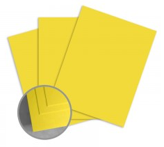 ColorMates Deep Sunshine Yellow Card Stock