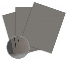 ColorMates Smooth & Silky Graphite Grey Card Stock - 8 1/2 x 11 in 90 lb Cover Smooth 25 per Package