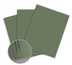 ColorMates Smooth & Silky Military Green Card Stock