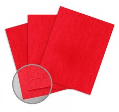 ColorMates Textures Red Denim Card Stock