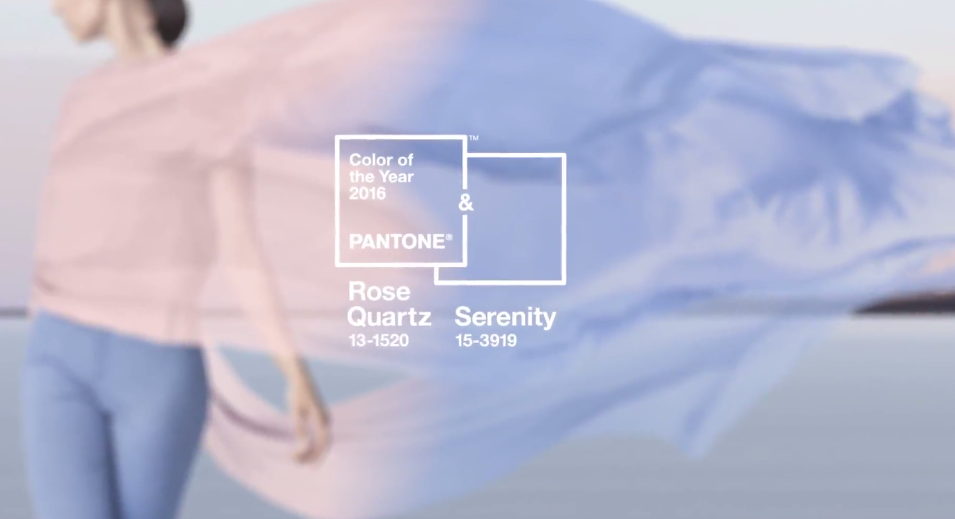 Pantone Colors of the Year Rose Quartz Serenity