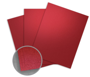 Curious Metallics Red Lacquer Card Stock