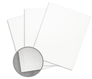 Elan Metallics White Quartz Card Stock