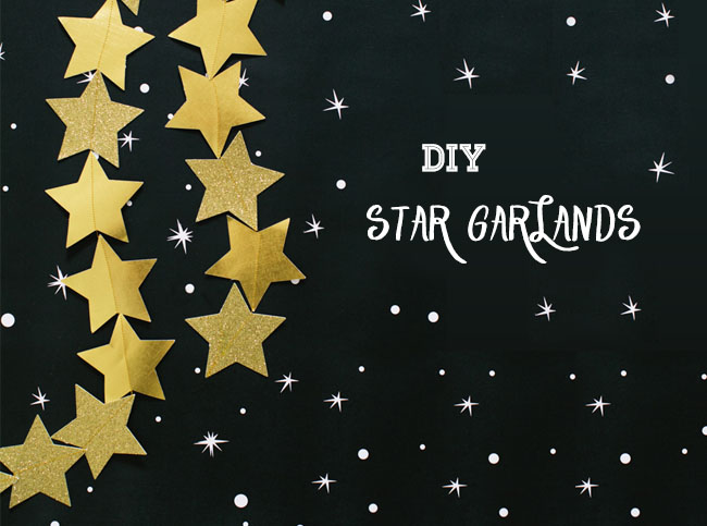 DIY Star Garlands NYE New Years Eve