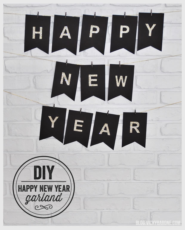 nye new years eve banner garland