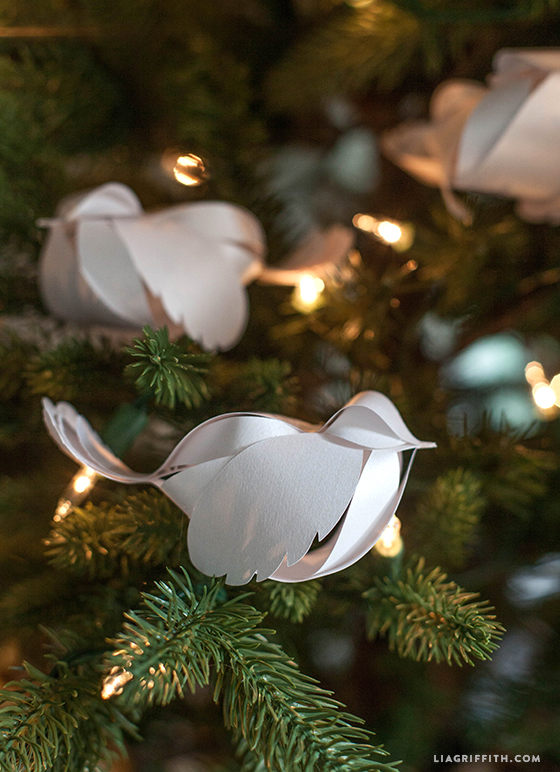 paper birds christmas decorations