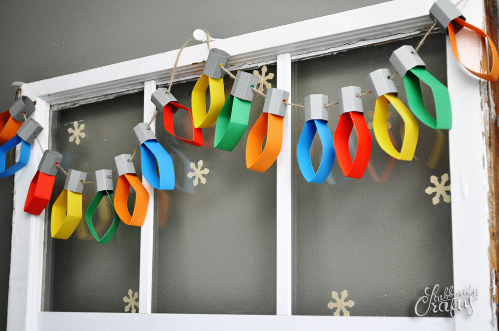 paper christmas lights garland decorations - Easy Paper Christmas Decorations