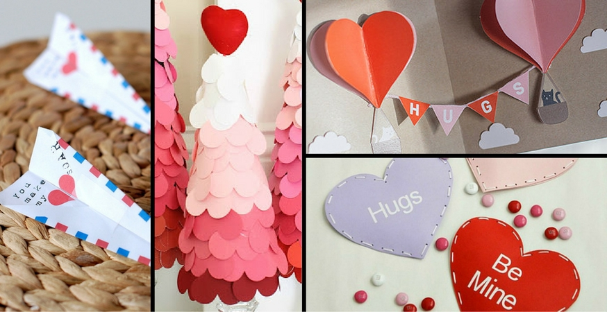 16 More Valentine\'s Day Paper Crafts | The Paper Blog