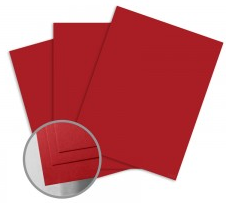 ColorMates Smooth & Silky Red Card Stock
