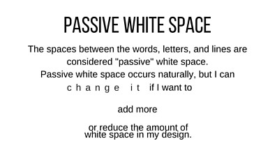 Passive White Space