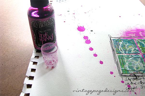 Spray Ink Splatter