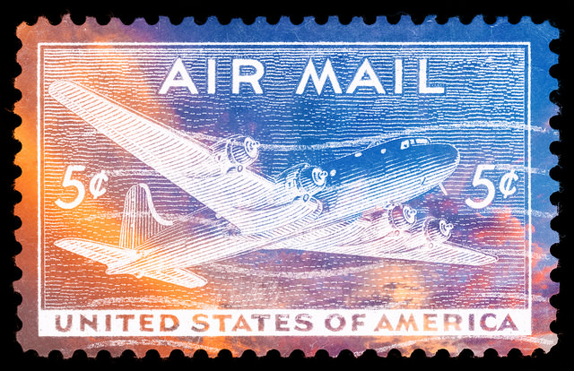 US Air Mail Negative Space