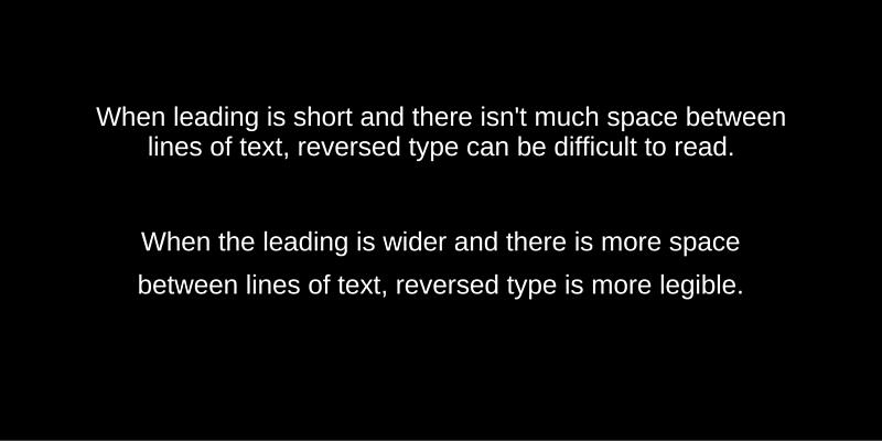 Reversed Type Leading